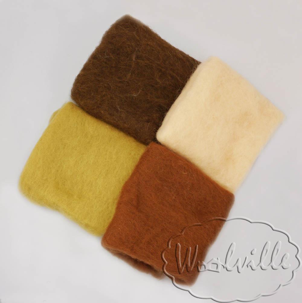 Набор шерсти для валяния Орех