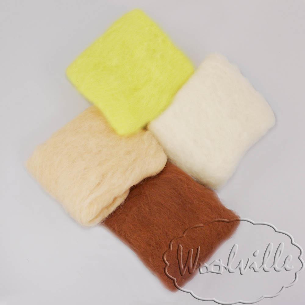 Набор шерсти для валяния Саванна