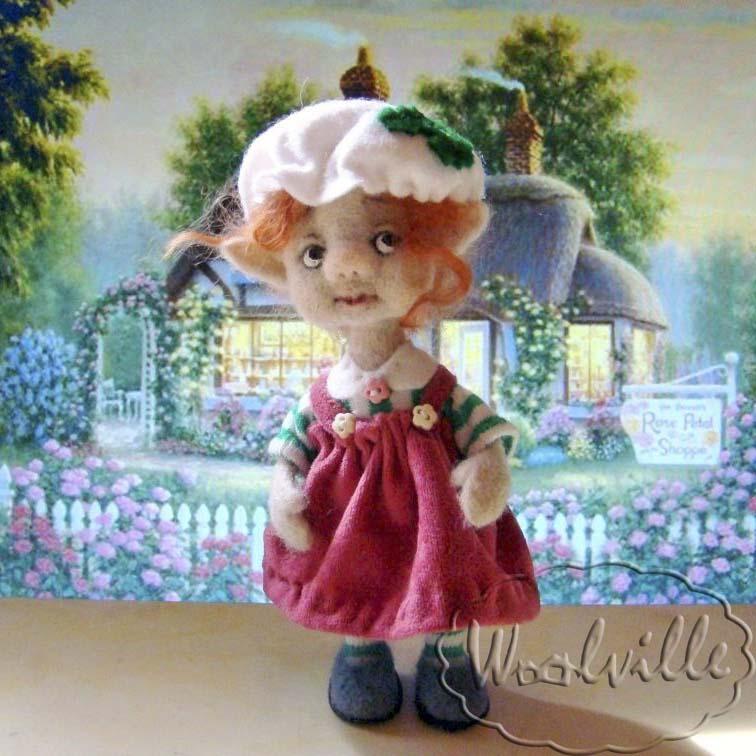 Валяная игрушка гномочка Агнесс