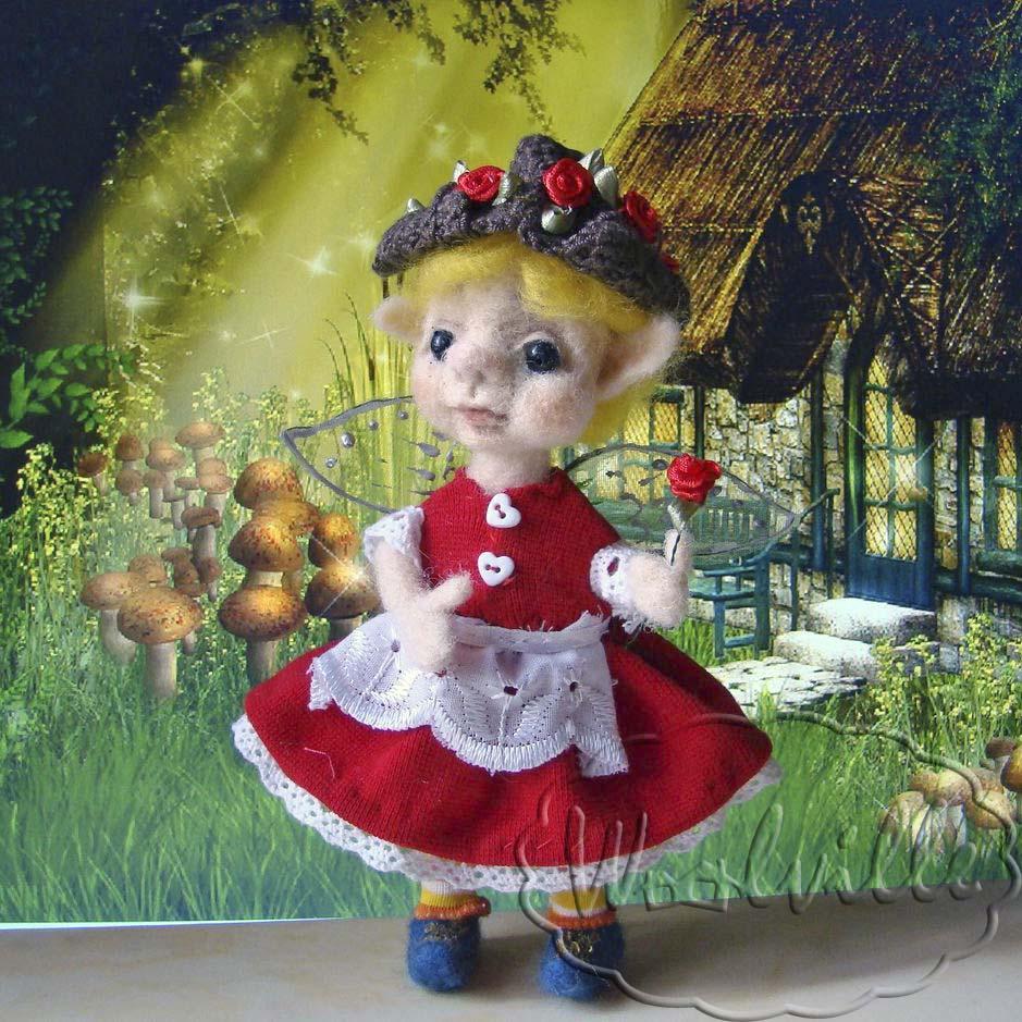 Кукла валяная эльфочка Мэй