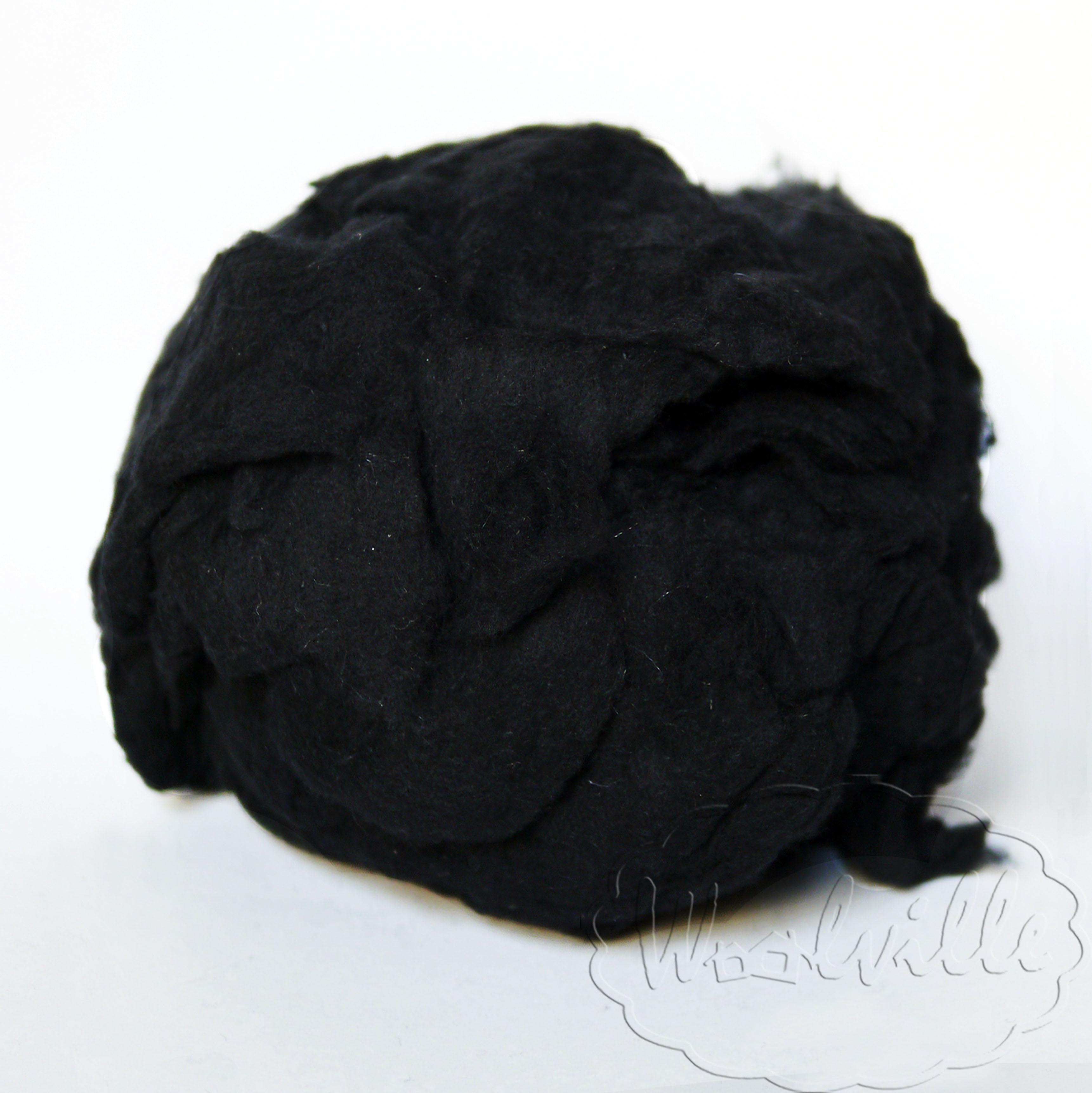Наполнитель шерстяная вата черная