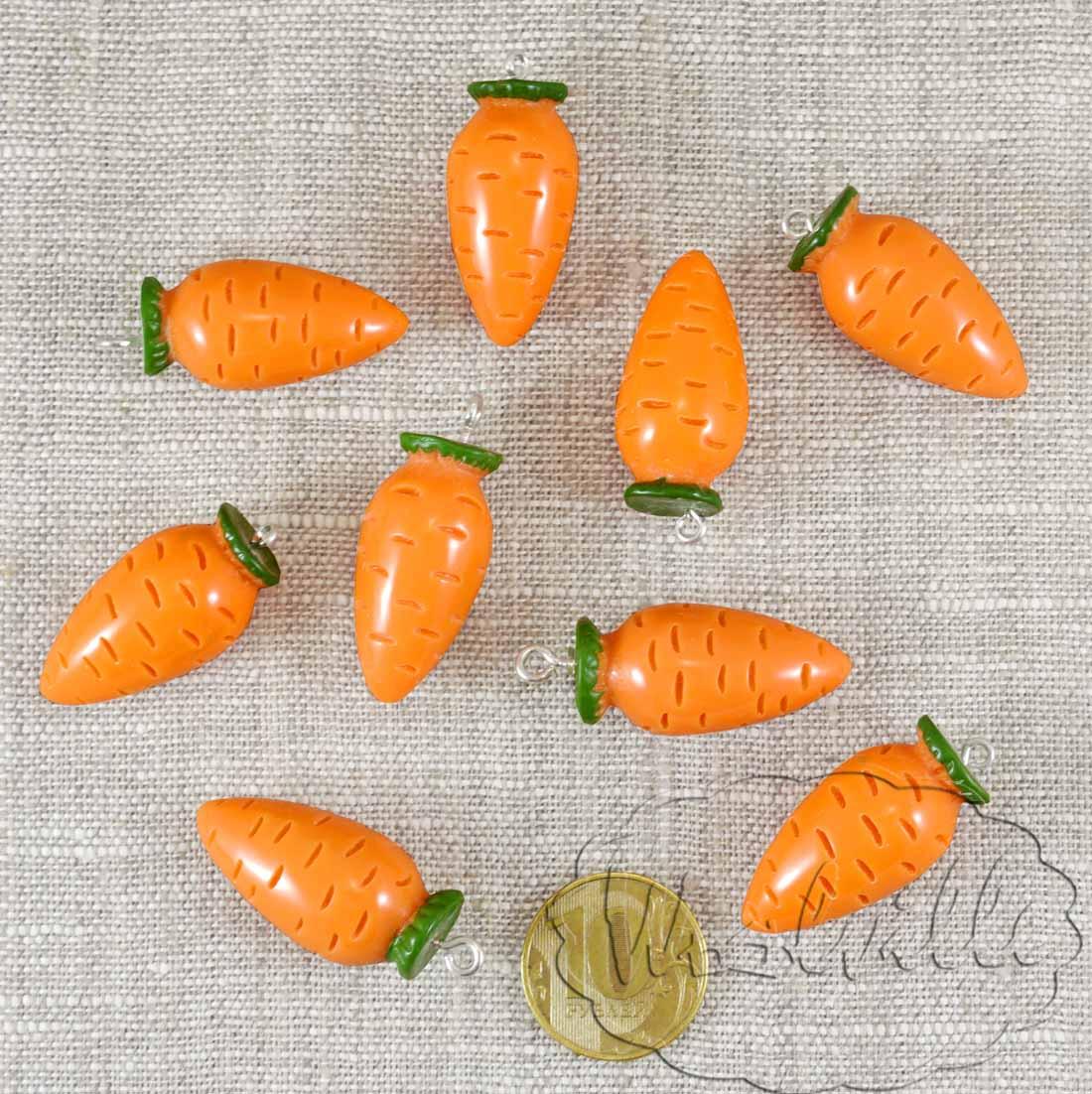 Кукольная миниатюра морковь 32 мм