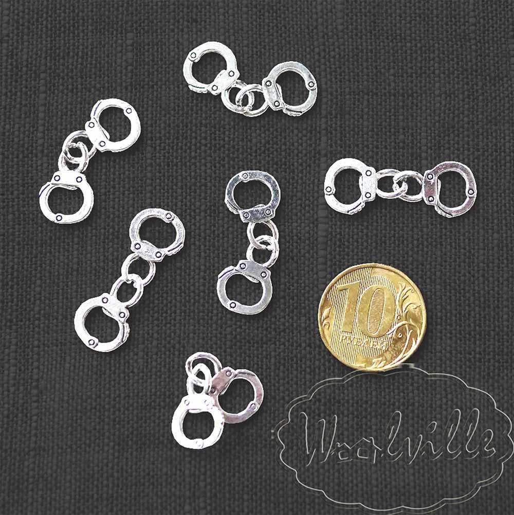 Кукольная миниатюра наручники 32 мм