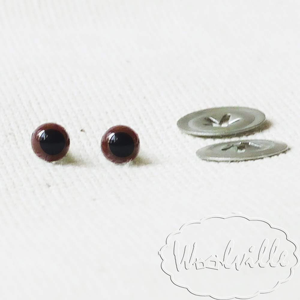 Глазки пластиковые коричневые Н 4,5 мм 2 шт