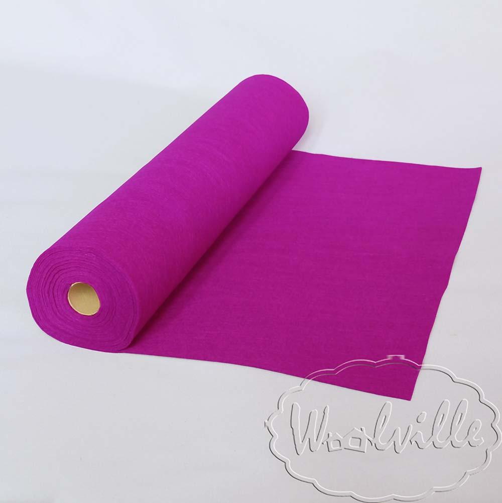 Фетр рулонный 1 мм фиолетовый 45-25 см