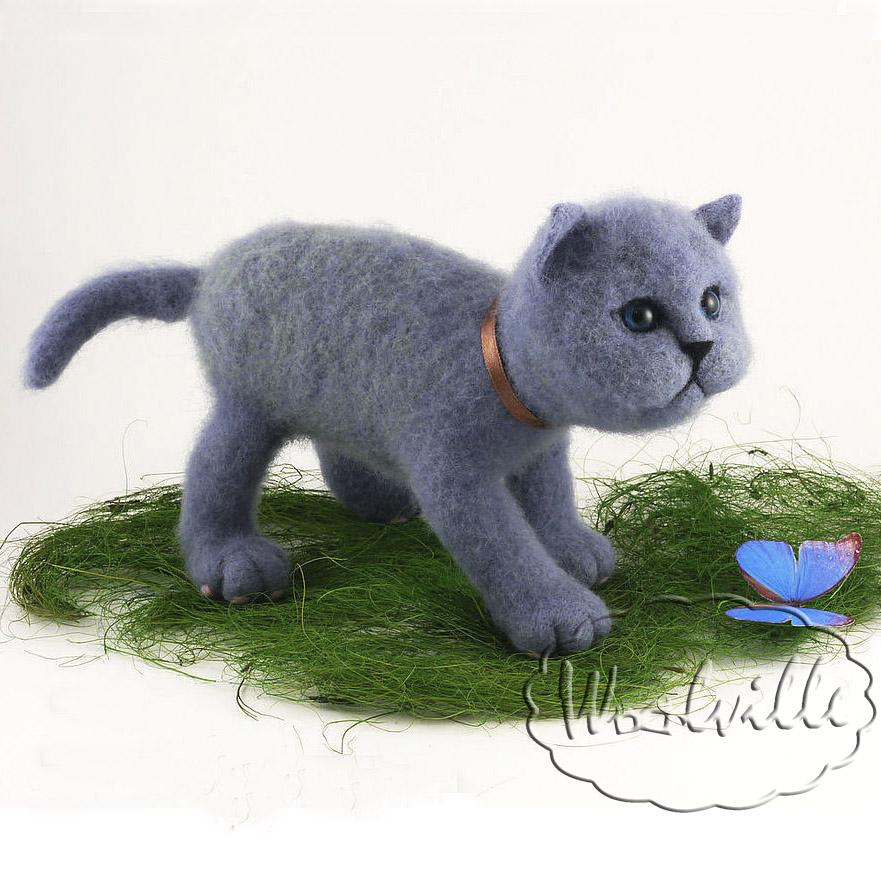 игрушка котенок британец