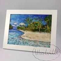 Картина из шерсти Тропический остров