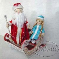 Игрушки Дед Мороз и Снегурочка