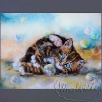 Картина из шерсти Счастье котенка