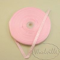 Лента аласная розовая новогодняя