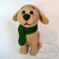 Валяная игрушка щенок Дик