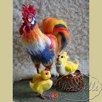 Интерьерная игрушка петух