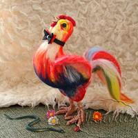 Игрушка из шерсти молодой петушок Феникс