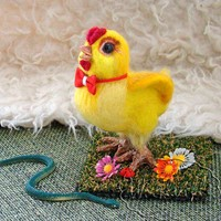 Валяная игрушка цыпленок цып