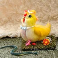 Игрушка из шерсти цыпленок Цыпа