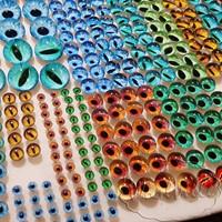 Глазки стеклянные зелено-голубые К 6 мм 2 шт