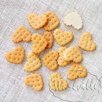 Миниатюра печенье сердечко 20 мм