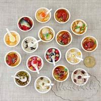 Кукольная миниатюра миска с едой 32 мм