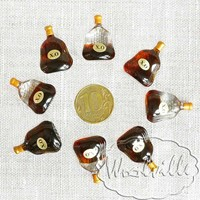 Кукольная миниатюра коньяк 25 мм