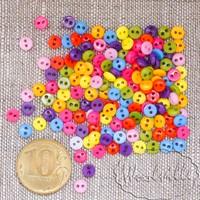 Пуговицы цветные микс  5 мм
