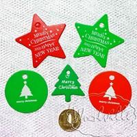 Тег бирка с Рождеством 54 мм