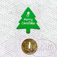 Тег бирка елочка зеленая 37 мм