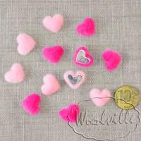 Миниатюра волосатое сердечко 17 мм