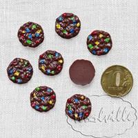 Кукольная миниатюра печенье овсяное 18 мм