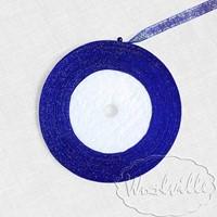 Лента синяя блестящая 7 мм