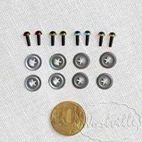 Глазки пластиковые бежевые Н 4,5 мм 2 шт