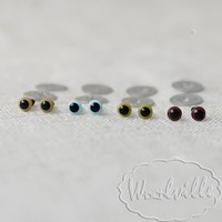 Глазки пластиковые голубые Н 4,5 мм 2 шт