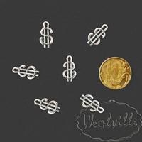 Кукольная миниатюра подвеска кулон доллар 17 мм