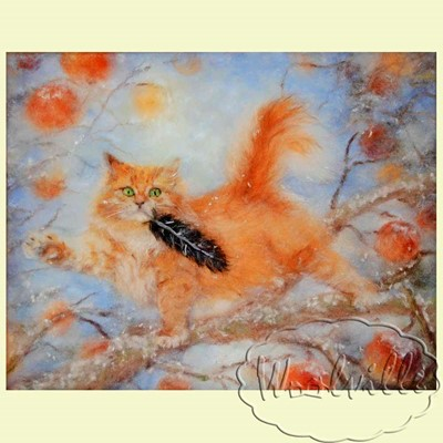 Картина из шерсти Рыжий разбойник