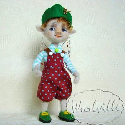 Кукла из шерсти валяная эльф Эль