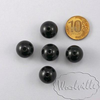Глазки бусины черные 16 мм 2 шт