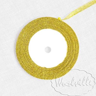 Лента золотая блестящая 7 мм