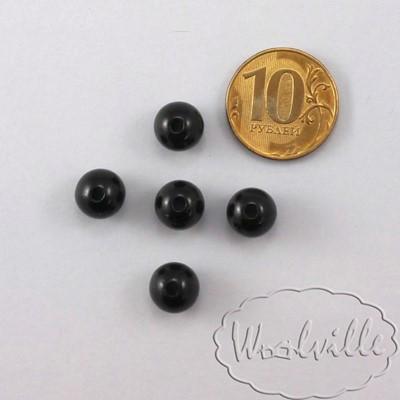 Глазки бусины черные 9 мм 2 шт