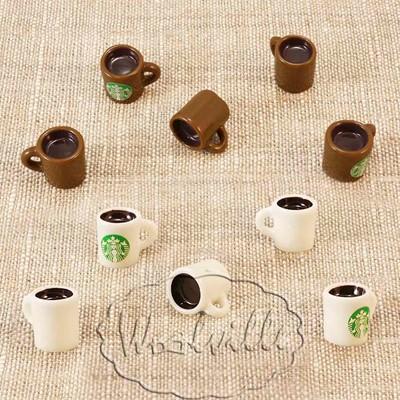 Кукольная миниатюра кружка кофе 15 мм