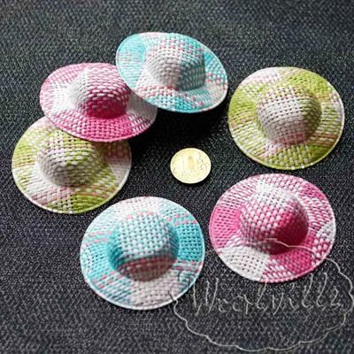 Миниатюра плетеная шляпка 65 мм