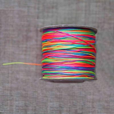 Шнур нейлоновый радуга 0,8 мм