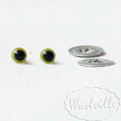 Глазки пластиковые зеленые Н 4,5 мм 2 шт