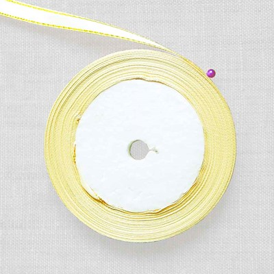 Лента атласная кремовая 10 мм