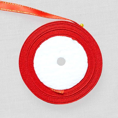 Лента атласная красная 10 мм